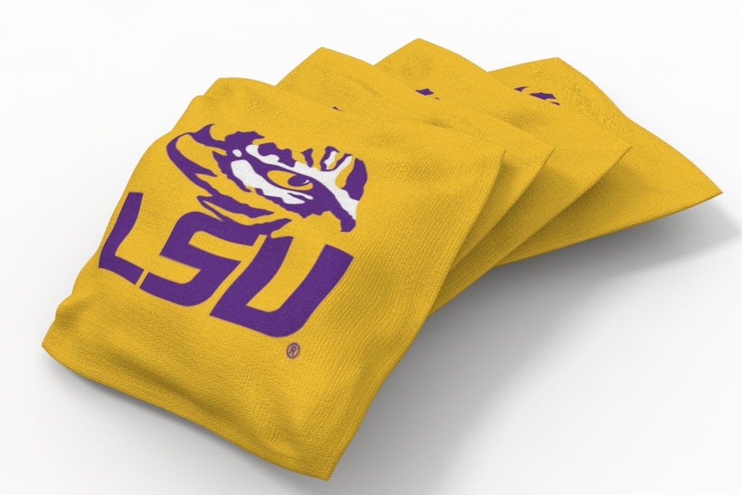 LSU Tigers 2x4 Cornhole Board Set Onyx Stained - Xtra Camo