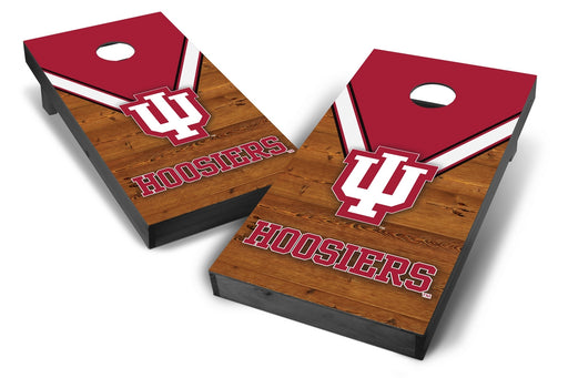 Indiana Hoosiers 2x4 Cornhole Board Set Onyx Stained - Uniform