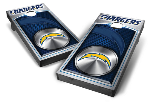 Los Angeles Chargers 2x4 Cornhole Board Set Onyx Stained - Medallion