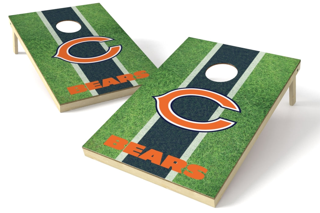Chicago Bears 2x3 Cornhole Board Set - Field