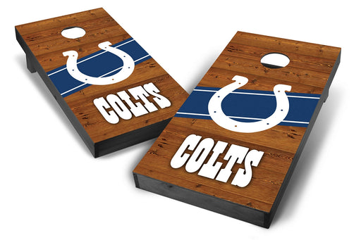Indianapolis Colts 2x4 Cornhole Board Set Onyx Stained - Logo