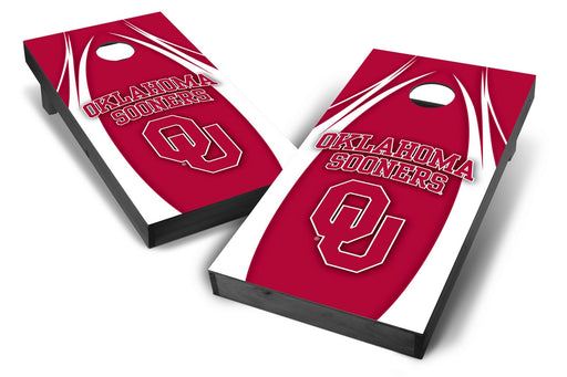 Oklahoma Sooners 2x4 Cornhole Board Set Onyx Stained - Edge