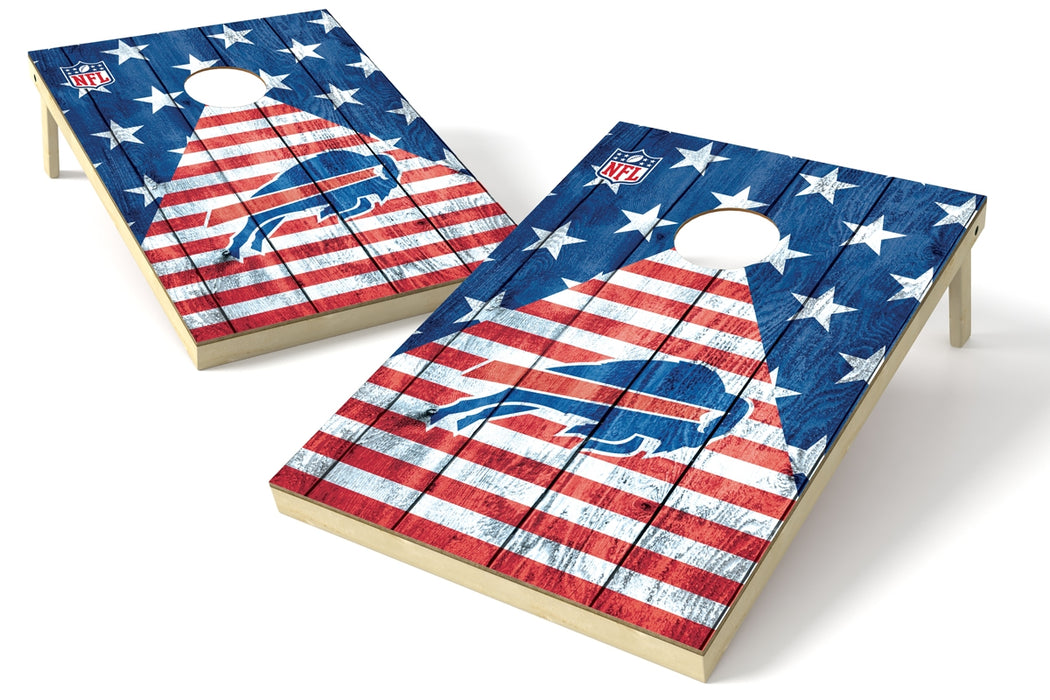Buffalo Bills 2x3 Cornhole Board Set - American Flag