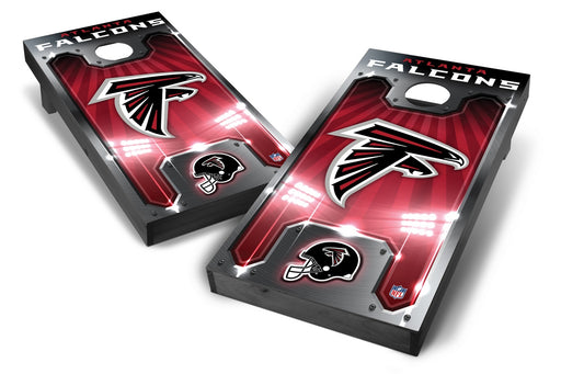 Atlanta Falcons 2x4 Cornhole Board Set Onyx Stained - Plate