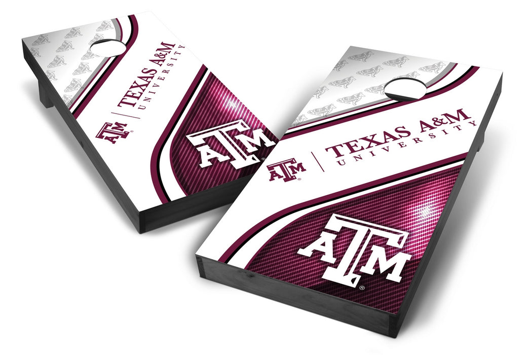 Texas A&M Aggies 2x4 Cornhole Board Set Onyx Stained - Swirl