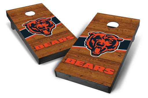 Chicago Bears 2x4 Cornhole Board Set Onyx Stained - Logo