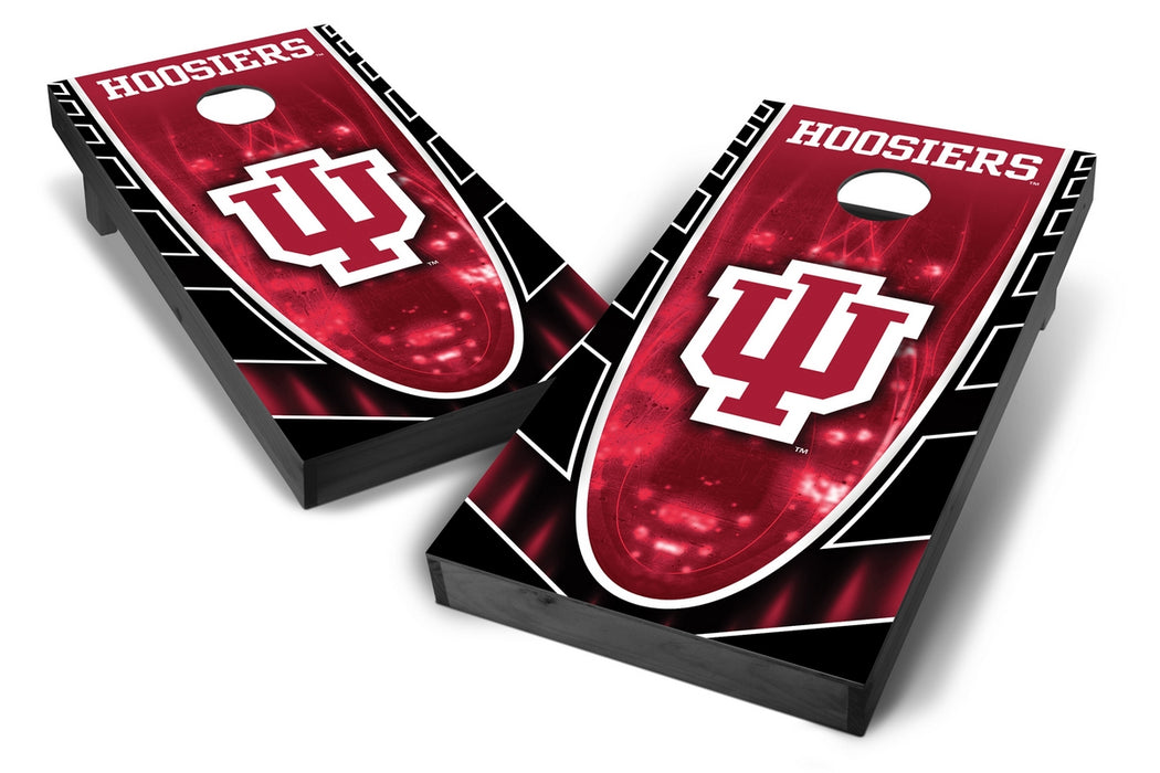 Indiana Hoosiers 2x4 Cornhole Board Set Onyx Stained - Hot