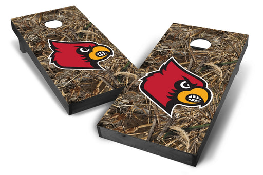 Louisville Cardinals 2x4 Cornhole Board Set Onyx Stained - Realtree Max-5 Camo