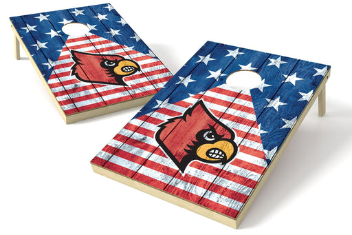 Louisville Cardinals 2x3 Cornhole Board Set - American Flag