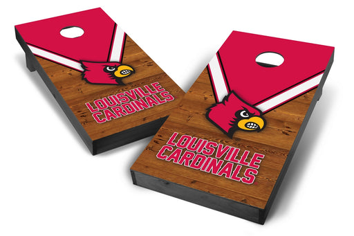 Louisville Cardinals 2x4 Cornhole Board Set Onyx Stained - Uniform