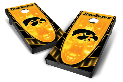 Iowa Hawkeyes 2x4 Cornhole Board Set Onyx Stained - Hot