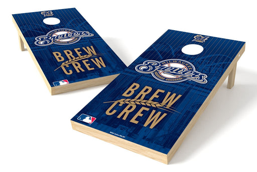 Milwaukee Brewers 2x4 Cornhole Board Set - Logo