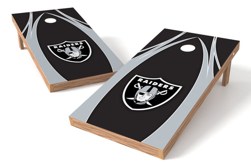 Oakland Raiders 2x4 Cornhole Board Set - Edge