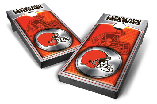 Cleveland Browns 2x4 Cornhole Board Set Onyx Stained - Medallion