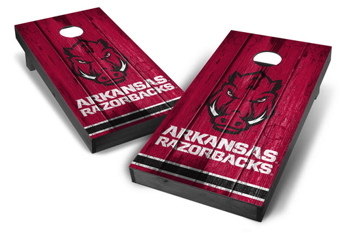 Arkansas Razorbacks 2x4 Cornhole Board Set Onyx Stained - Vintage