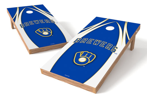 Milwaukee Brewers 2x4 Cornhole Board Set - Edge