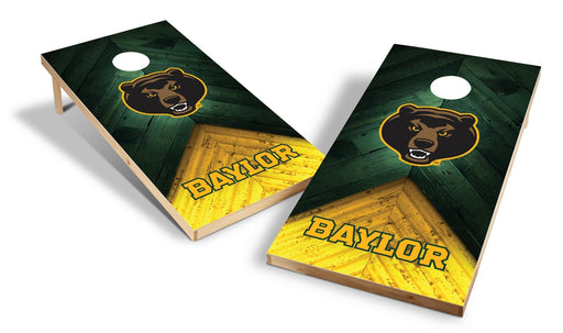 Baylor Bears 2x4 Cornhole Board Set - Weathered