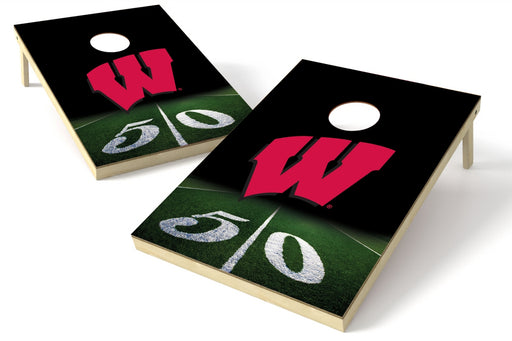 Wisconsin Badgers 2x3 Cornhole Board Set - 50 Yard Line