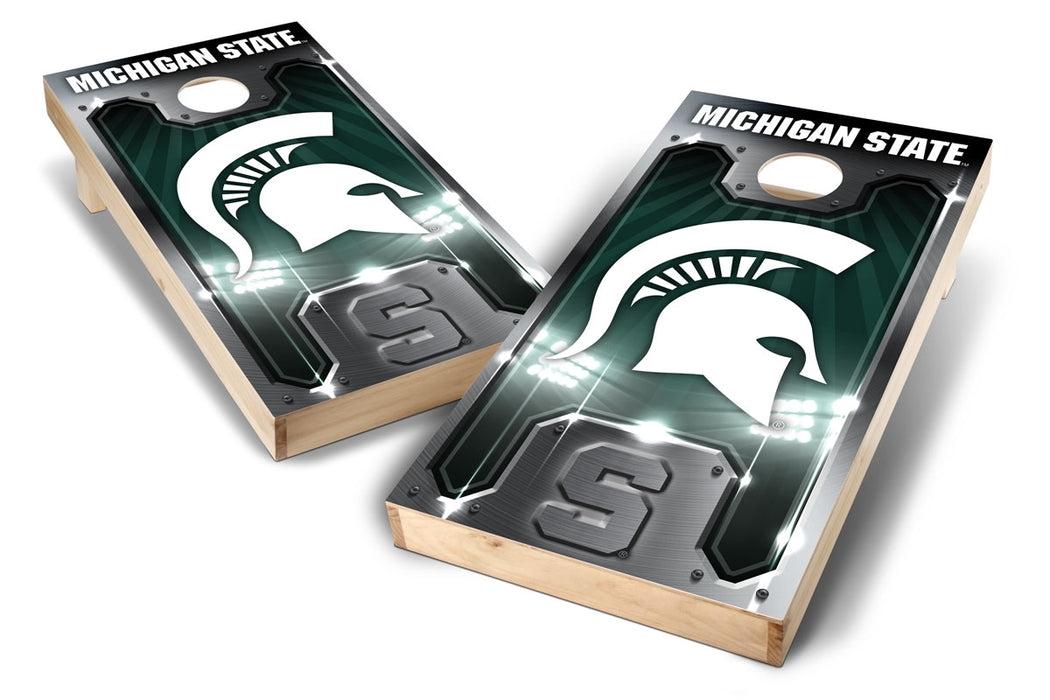 Michigan State Spartans 2x4 Cornhole Board Set - Plate