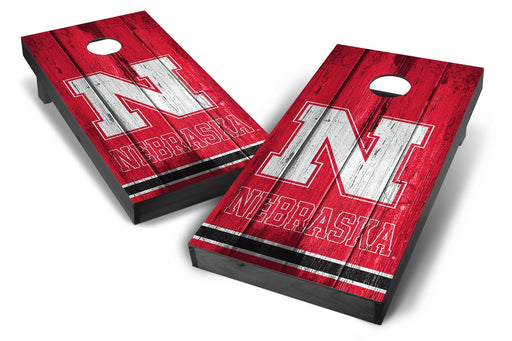 Nebraska Cornhuskers 2x4 Cornhole Board Set Onyx Stained - Vintage