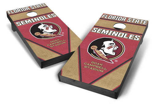 Florida State Seminoles 2x4 Cornhole Board Set Onyx Stained - Burlap