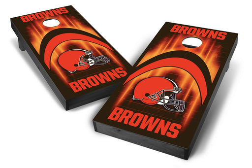 Cleveland Browns 2x4 Cornhole Board Set Onyx Stained - Arch