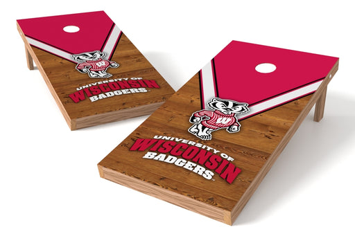 Wisconsin Badgers 2x4 Cornhole Board Set - Uniform