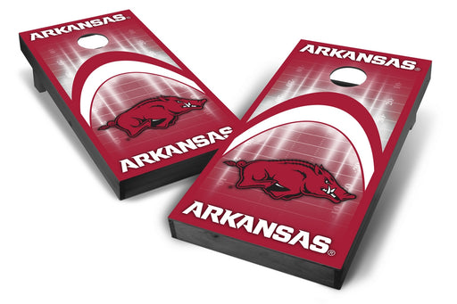 Arkansas Razorbacks 2x4 Cornhole Board Set Onyx Stained - Arch