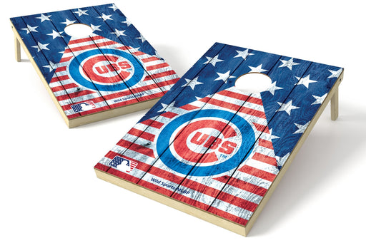 Chicago Cubs 2x3 Cornhole Board Set - American Flag