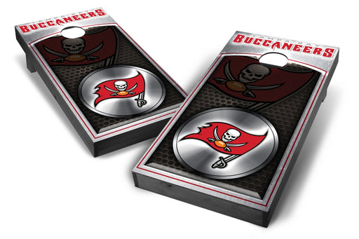 Tampa Bay Buccaneers 2x4 Cornhole Board Set Onyx Stained - Medallion