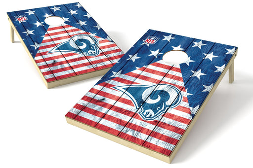 Los Angeles Rams 2x3 Cornhole Board Set - American Flag
