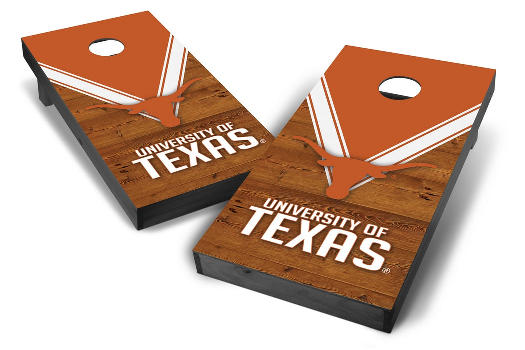 Texas Longhorns 2x4 Cornhole Board Set Onyx Stained - Uniform