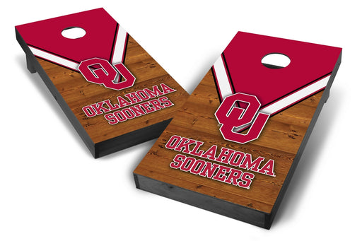Oklahoma Sooners 2x4 Cornhole Board Set Onyx Stained - Uniform