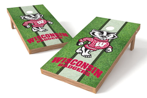 Wisconsin Badgers 2x4 Cornhole Board Set - Field