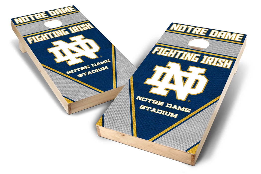 Notre Dame Fighting Irish 2x4 Cornhole Board Set - Burlap