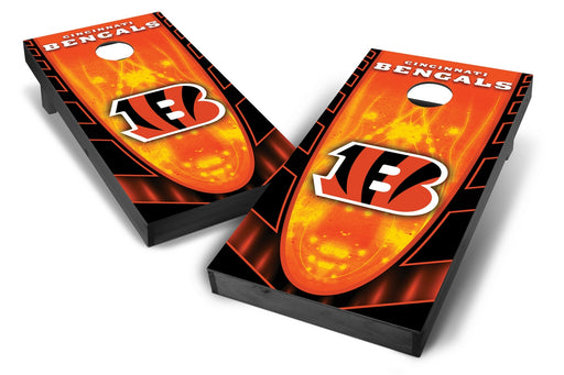 Cincinnati Bengals 2x4 Cornhole Board Set Onyx Stained - Hot