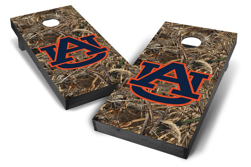 Auburn Tigers 2x4 Cornhole Board Set Onyx Stained - Realtree Max-5 Camo