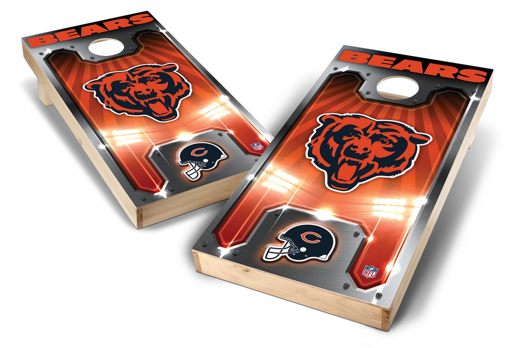 Chicago Bears 2x4 Cornhole Board Set - Plate