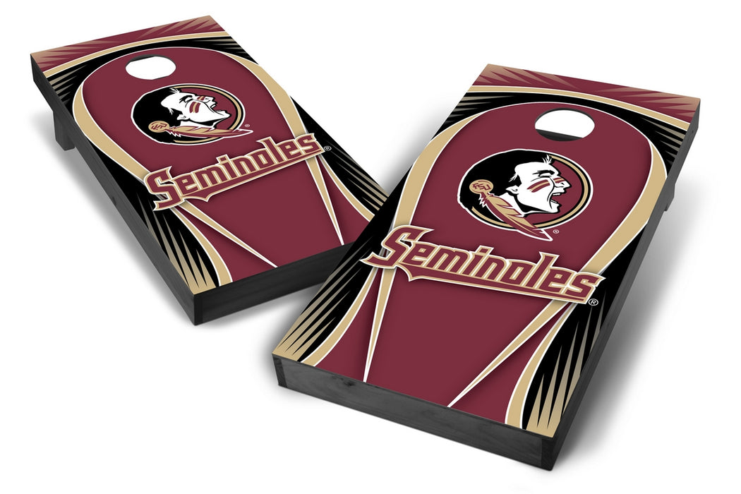 Florida State Seminoles 2x4 Cornhole Board Set Onyx Stained - Drop