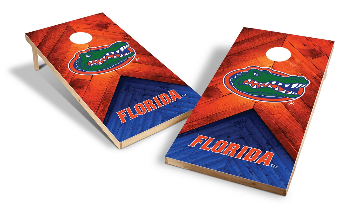 Florida Gators 2x4 Cornhole Board Set - Weathered
