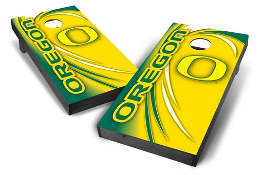 Oregon Ducks 2x4 Cornhole Board Set Onyx Stained - Spiral
