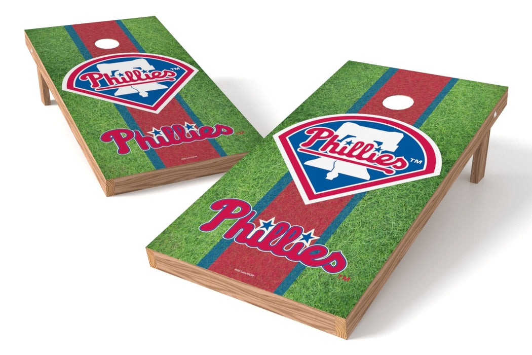 Philadelphia Phillies 2x4 Cornhole Board Set - Field