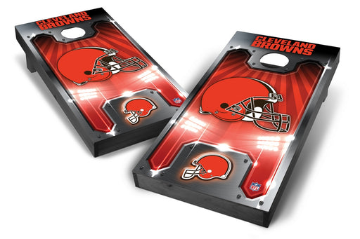 Cleveland Browns 2x4 Cornhole Board Set Onyx Stained - Plate