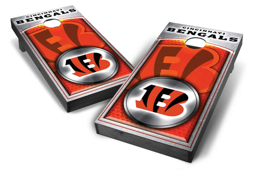 Cincinnati Bengals 2x4 Cornhole Board Set Onyx Stained - Medallion