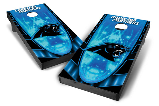Carolina Panthers 2x4 Cornhole Board Set Onyx Stained - Hot