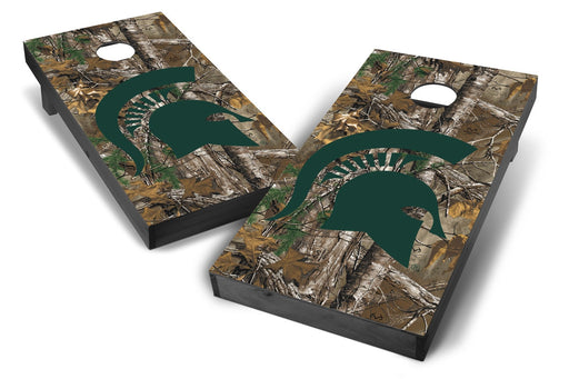Michigan State Spartans 2x4 Cornhole Board Set Onyx Stained - Xtra Camo