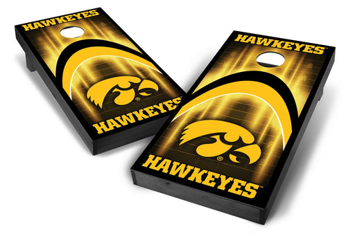 Iowa Hawkeyes 2x4 Cornhole Board Set Onyx Stained - ArCH