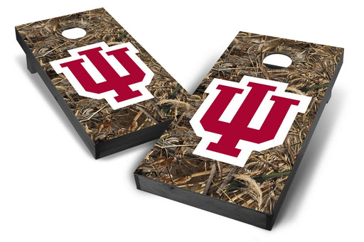 Indiana Hoosiers 2x4 Cornhole Board Set Onyx Stained - Realtree Max-5 Camo