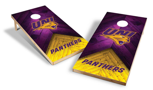 Northern Iowa Panthers 2x4 Cornhole Board Set - Weathered