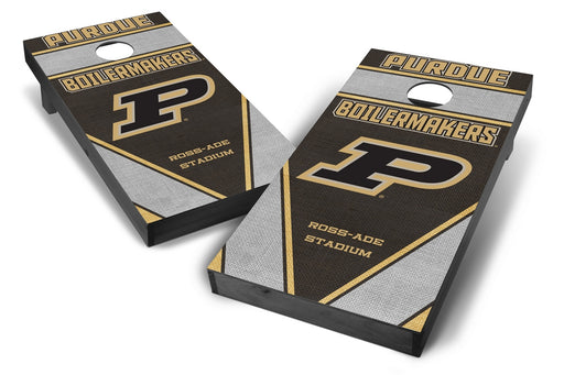 Purdue Boilermakers 2x4 Cornhole Board Set Onyx Stained - Burlap